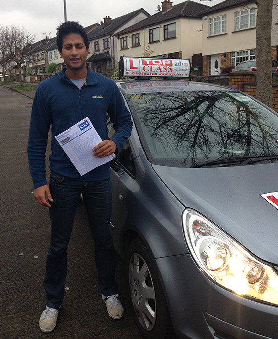 kamlesh-passes-driving-test